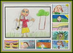 A collection of wonderful selfie portraits by Roxanne Levett's students in Perth, Australia.