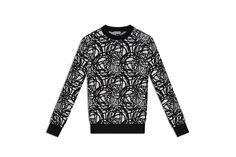 Dior, Winter 2014, Wool jacquard, all-over black and white motif sweater
