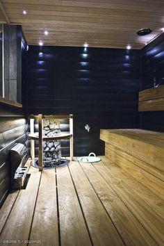 Blue-walled sauna / Siniseinäinen sauna--wonder if AJ will let me paint our sauna. Scandinavian Saunas, Sauna Lights, Decorating Your Home, Interior Decorating, Sauna Design, Finnish Sauna, San Diego, Spa Rooms, Steam Room