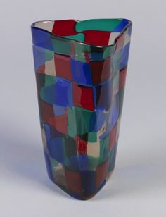 Pezzato vase designed by Fulvio Bianconi, Venetian Glass, Murano Glass, Clear Glass, Glass Art, Line Geometry, Organic Form, Design Museum, Carnival Glass, Earthenware