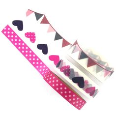 Assorted Bunting Love Decorative Tape 5 m 3 Pack
