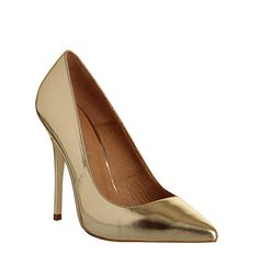 Office On Tops Champagne Metallic Leather - High Heels