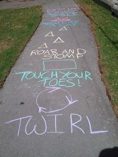 Sidewalk fun.. this would be great if you have a lot of sidewalk/paths at your house, cool way to keep kiddos entertained!