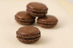 Strawberry Crumble: Macarons de Chocolate - com Farinha de Avelã