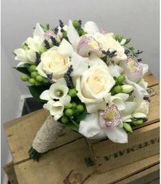 Buchet mireasa orhidee cymbidium si hypericum Nasa, October, Wedding, Wedding Bouquets, Mariage, Weddings, Marriage, Casamento