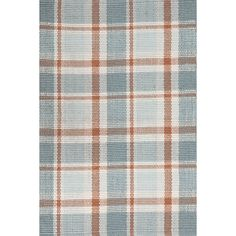 Bunny Williams is mad for plaid, and so are we! We love this lively take in blues, browns, and ivory and a tough-as-nails indoor/outdoor weave. Based on a rug in Bunnys own home!Made of 100% PET, a polyester fiber made from recycled plastic bottles.