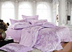 purple bedding sets light purple drilled 4 pieces comforter bedding sets tbdresscom - Purple Comforters