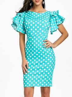 discount-designer-clothes-for-women - Womens Fashion 1 Cheap Dresses, Casual Dresses, Dress Outfits, Fashion Dresses, Ladies Dresses, Trendy Dresses, Polka Dot Bodycon Dresses, Dots Fashion, Fashion 2017