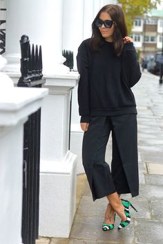 street style, spring summer 2016, pantalones culotte