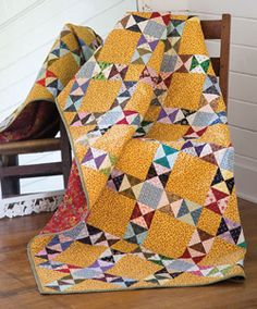 Why Cheddar Quilts are Popular Again - Americas Favorite Quilt Shop Orange Quilt, Yellow Quilts, Bright Quilts, Batik Quilts, Scrappy Quilts, Fall Quilts, Quilting Projects, Quilting Designs, Quilting Ideas