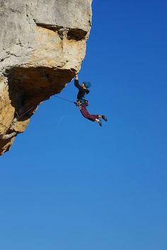 Kajsa Rosen climbing in Siurana. #thepursuitofprogression #Lufelive #Climb #Rockclimb #Rockclimbing #LA #NY
