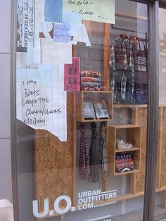 Urban Outfitters window display at Mockingbird Station -- Dallas, TX by suburbanshorts, via Flickr