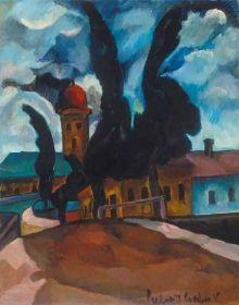 Vilmos Perlrott-Csaba - Reformed church in Baia Mare Matisse, Paintings, Buildings, Cubism, Paint, Painting Art, Henri Matisse, Painting, Painted Canvas