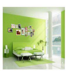 Elevenfy 18 Pcs Wall Mounted Black Photo Frame Wood Made Art Nostalgic Home Decor Set