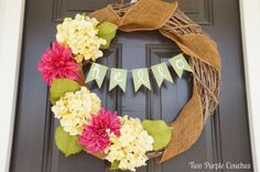 DIY-Banner-Spring-Wreath-Two-Purple-Couches