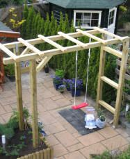Pergola schommel idee n voor het huis pinterest toe tes and arbor swing - Tent tuin pergola ...