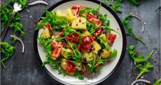 Fresh Crispy Bacon Potato Salad Green Stock Photo (Edit Now) 784477864 Kung Pao Chicken, Potato Salad, Bacon Potato, Entrees, Zucchini, Potatoes, Fresh, Vegetables, Ethnic Recipes
