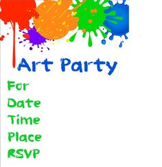 Art Party Invitation Printable - Boy