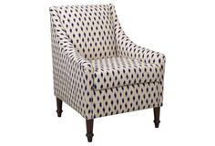 Holmes Accent Chair, Navy