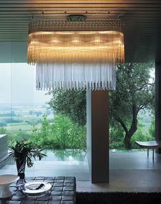 Glass chandelier DIADEMA SP O1 by Vetreria Vistosi design ROMANI SACCANI ARCHITETTI ASSOCIATI