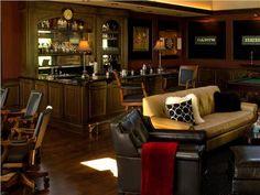 Dark Traditional Bar by Linda Allen