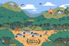 Hunt for the Wilderpeople Released in partnership with Piki films through Black Dragon Press, my latest screen print celebrates this wonderful movie turning 1 year old this week! This is my largest and most detailed piece to date, so here are some. Screen Print Poster, Poster Prints, Art Prints, Wilder People, Hunt For The Wilderpeople, Beyond The Border, Taika Waititi, White Ducks, Black Dragon