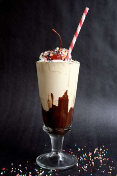 Baker's Happy Hour Hot fudge Milkshake with liqueurs and spirits - for adults only!