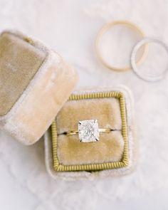Cushion-cut engagement ring