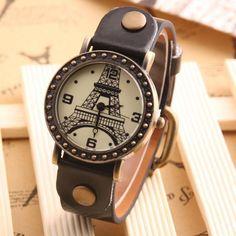 Paris Souvenir Leather Watch