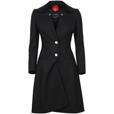 Vivienne Westwood Black Wool Unique Tailored Long Coat found on Polyvore