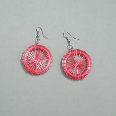 Boucles d'oreille en coton réalisées au crochet : Boucles d'oreille par sisterscreations21