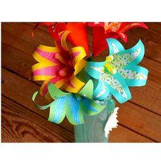 Paper Tropical Flowers Bouquet