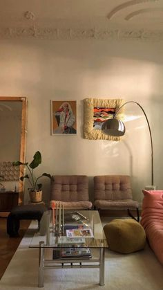 Living Room Update, Cozy Living Rooms, My Living Room, Room Ideas Bedroom, Bedroom Decor, Piece A Vivre, Room Goals, Dream Apartment, Aesthetic Room Decor