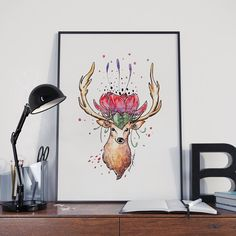 LANÇAMENTO  - A gente continua falando do universo criado pelo ilustrador Rodrigo Falco (@rodrigofalco) em suas aquarelas para a coleção #nacasadajoana.  - Flores pássaros doces e animais fantásticos. Seu desenho delicado e instigante busca questionar o óbvio e criar mundos que mexem com a imaginação.  - Esse é o pôster 'Alce Flor'. Veja mais imagens em #ColeçãoRodrigoFalcoNCDJ. - http://ift.tt/1dqyBxz (link na bio). #nacasadajoana #abaixoasparedesvazias #pôster #posters #quadros…