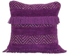 Better Homes & Gardens Better Homes and Gardens Lurex Chevron Knot Purple Oxford. #purple #pillows