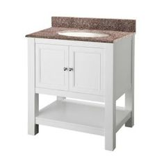 Foremost Gazette 30 in. Vanity in White with Granite Vanity Top in Montero-GAWA3022MT at The Home Depot