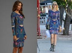 Spotted In: Jaime King In Mara Hoffman Caravan Side-Cutout Dress. Re-tweet and favorite it here: https://twitter.com/MyFashBlog/status/425829376479870976/photo/1