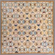 Quilt, 'Lady of the Lake' | LACMA Collections. Virginia, circa 1840. Cotton 98 1/2 x 98 1/2 in