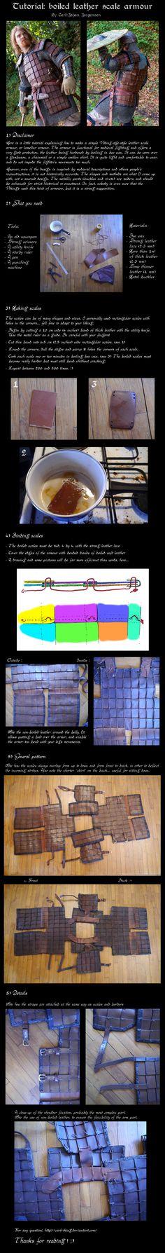 territorioVIKINGO: Tutorial de armadura laminar de cuero