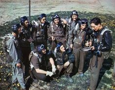 Brazilian Expeditionary Force pilots in Italy. 1944.