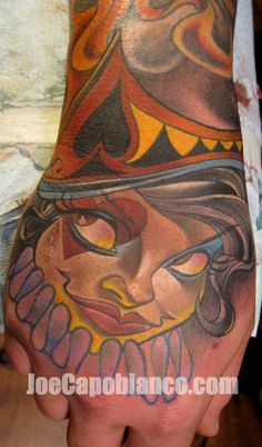 Joe capobianco hand tattoo
