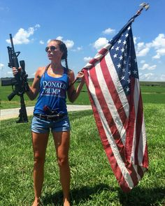 {Famil Shooting Gear, American Pride, Red And White, Black, Donald Trump, Bring It On, Politics, Sexy, Warrior Women