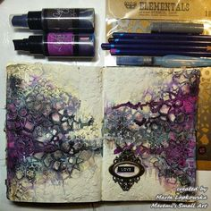 Marta Lapkowska: Art Journals and magical backgrounds + VIDEO tutorial