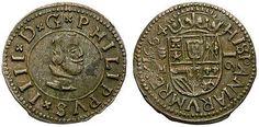FELIPE IIII. BELLA MONEDA DE 16 MARAVEDIS. 1664. VALLADOLID.