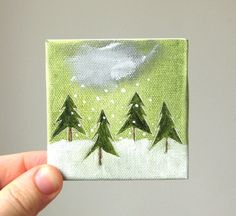 tiny forest no. 6 / original painting on canvas by ohchalet