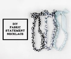 bead and knot statement necklace/teething necklace - see kate sew Fabric Necklace, Knot Necklace, Fabric Jewelry, I Love Jewelry, Statement Jewelry, Sewing Tutorials, Sewing Patterns, Sewing Projects, Sewing Ideas