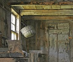 Basket in the house where Andrew Wyeth Painted by Blue Ridge Mt Woman, via Flickr