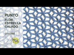 getlinkyoutube.com-Tutorial Punto Flor Estrellada Calado Crochet o Ganchillo en Español