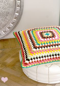 Huge Granny Square Pillow