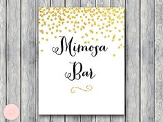 Mimosa Bar Sign Bubbly Bar Sign Instant Download by BrideandBows